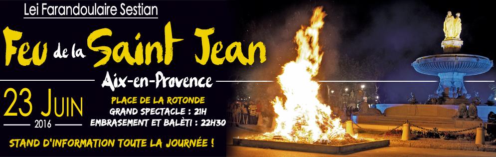 Feu St Jean Aix Farandoulaire 2016