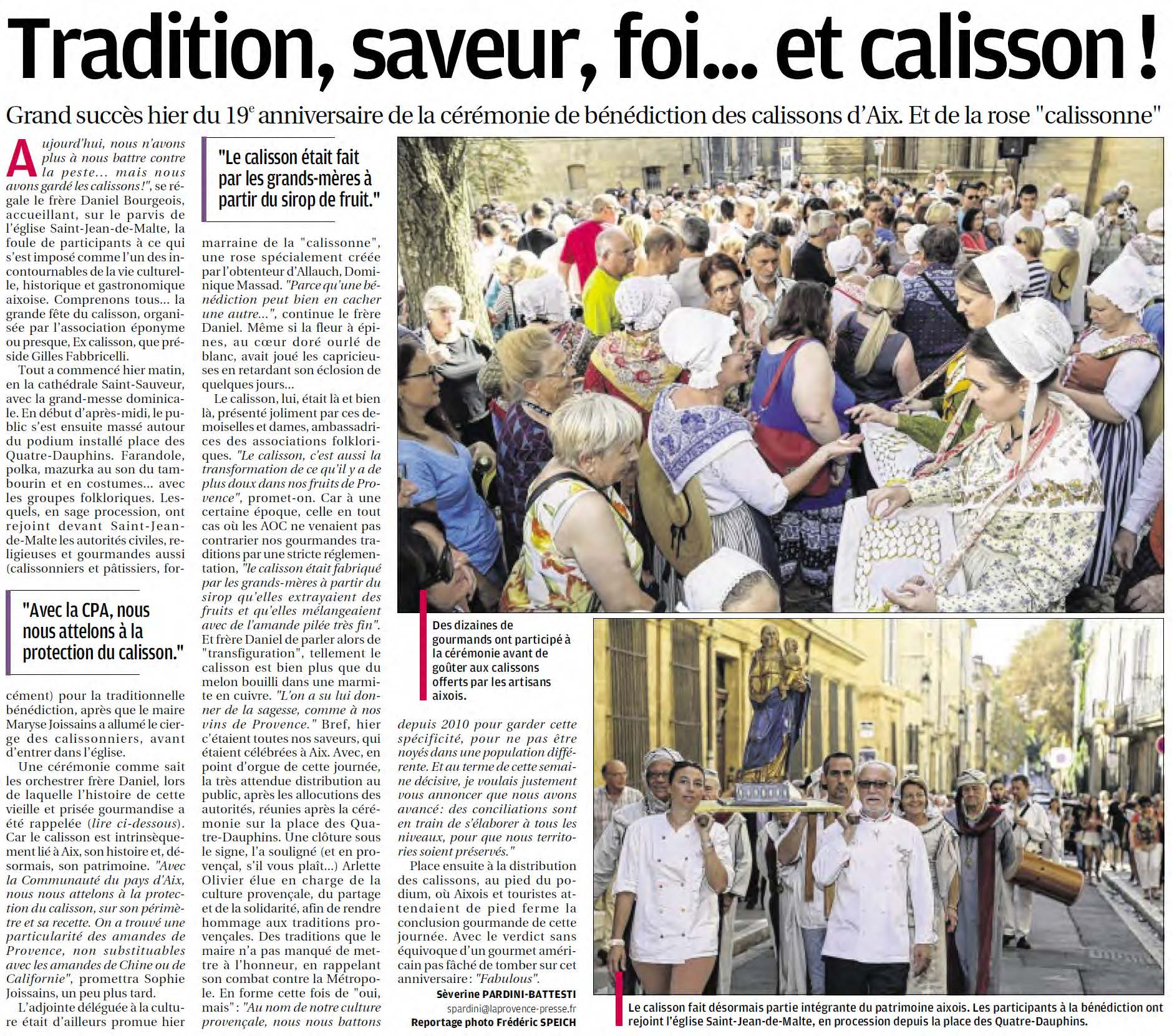 article-la-Provence-Calissons-Septembre-2014